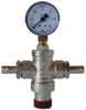 Pressure controller for water with manometer and spouts