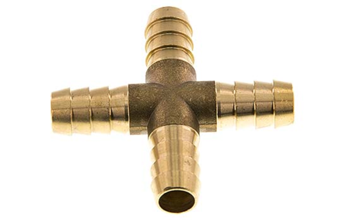 Hose connector brass cross-format 13mm